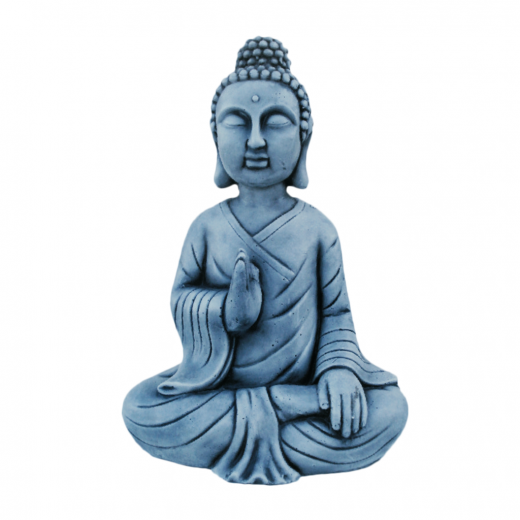 buddha statue ornament garden asian oriental sitting stone art Buddha Statue 44cm