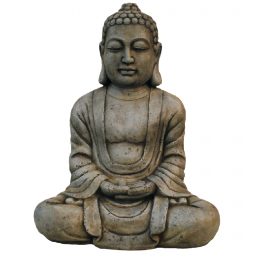 buddha statue ornament stone art oxidized oriental asian zen garden Big Buddha Statue 60cm