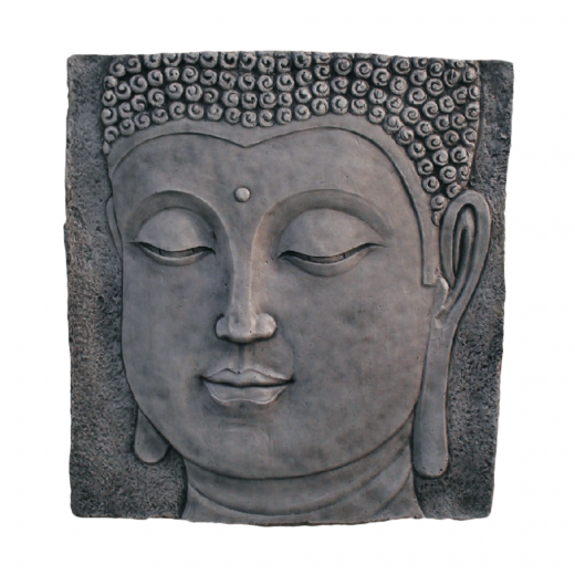 Buddha Plaque 62cm wall square picture well-being tranquility stone art ornament concrete outdoor oriental buddism Buddha Plaque 62cm