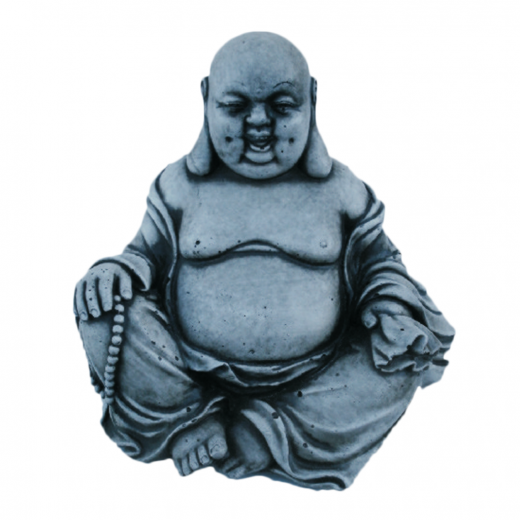 chinese chubby fat sitting buddha stone concrete statue ornament art garden asian oriental Fat Buddha Statue 17cm