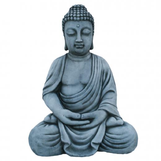 stone statue art concrete oriental buddha garden asian Buddha Statue 48cm