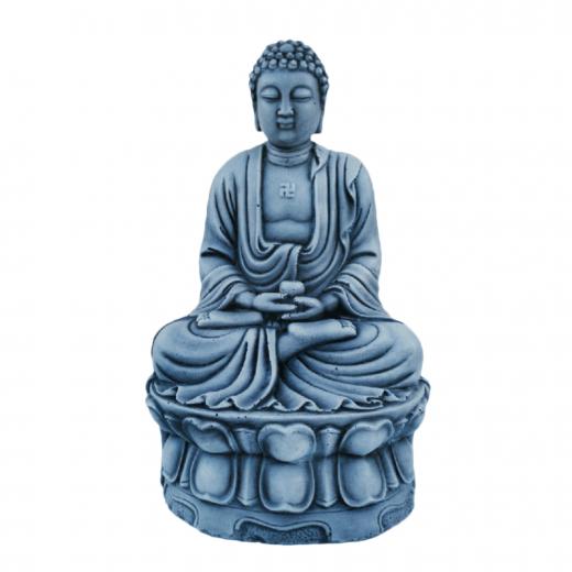 buddha sitting meditating stone ornament oriental asian zen garden Buddha Statue 38cm