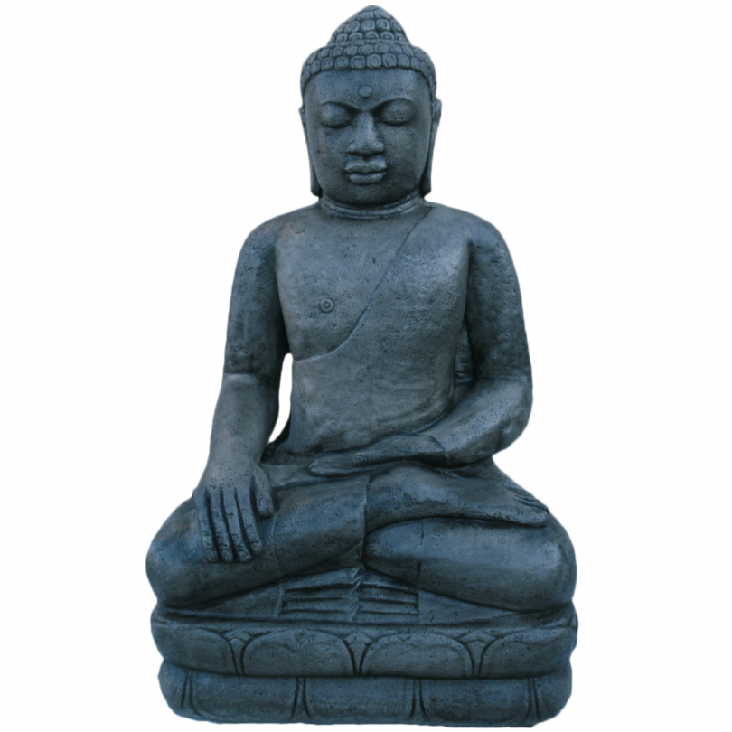 Buddha Statue 110cm oriental asian ornament outdoor statue stone concrete