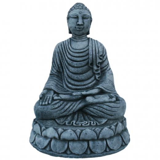 sitting buddha meditating bali indian statue ornament stone concrete art big Bali Buddha 56cm
