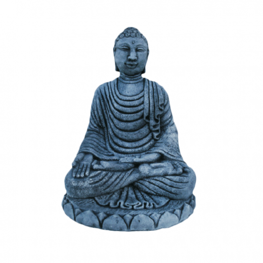 sitting buddha meditating bali indian statue ornament stone concrete art Bali Buddha 50cm