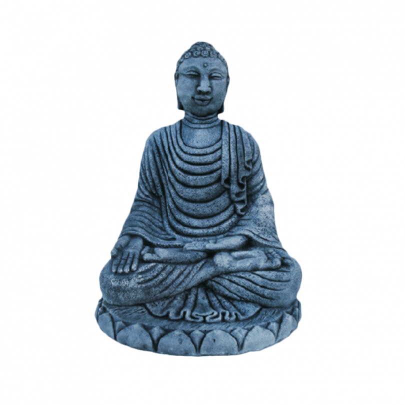 sitting buddha meditating bali indian statue ornament stone concrete art Bali Buddha 50cm