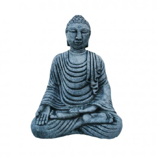 sitting buddha meditating bali indian statue ornament stone concrete art Bali Buddha 44cm