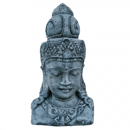 bali buddha head big ornament concrete stone art statue Bali Buddha Head 73cm