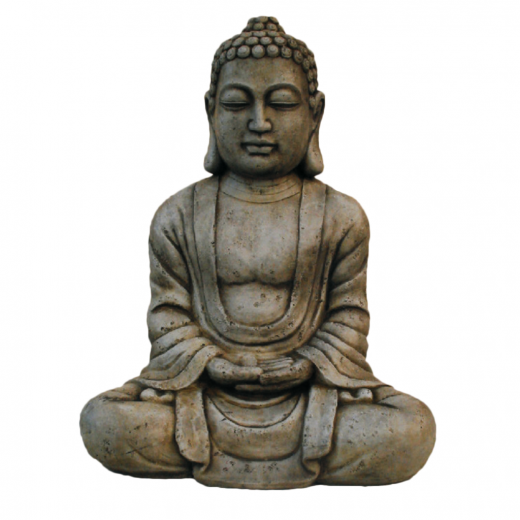 buddha statue ornament oriental oxidized asian sitting stone art concrete Buddha Statue 40cm