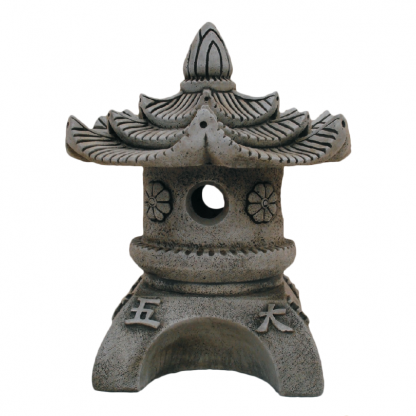 Rounded Pagoda 58cm chinese asian orniental lantern lamp stone concrete statue ornament garden outdoor house building