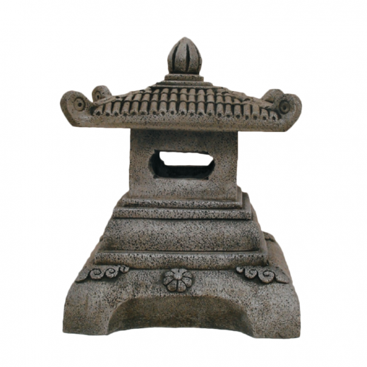 Square Pagoda 50cm chinese asian orniental lantern lamp stone concrete statue ornament garden outdoor house building