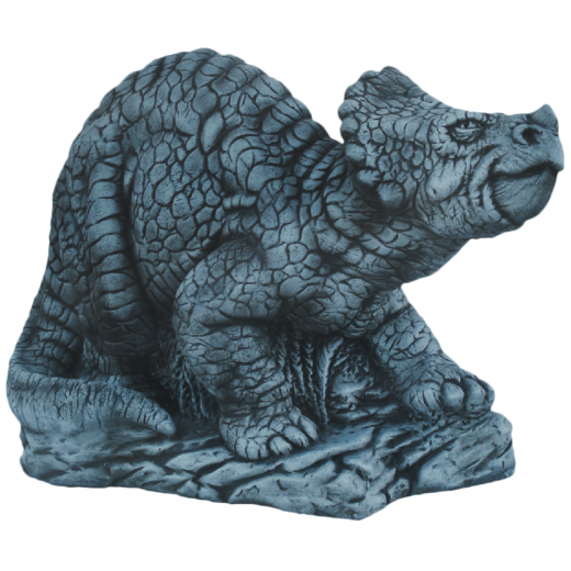 Triceratops 65cm fantasy dragon reptile dino dinosaur animal stone art ornament garden