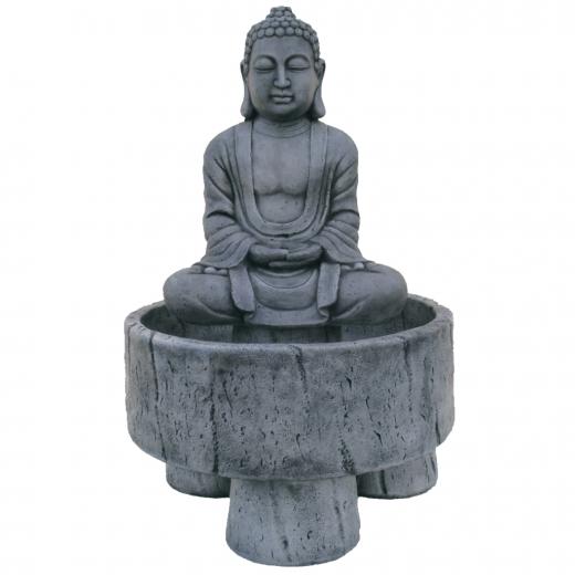 buddha fountain stone art water concrete statue garden oriental Buddha Fountain 102cm