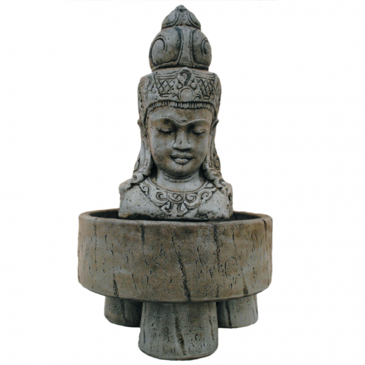 bali statue water fountain ornament buddha oriental asian stone art Oriental Head Fountain 115cm