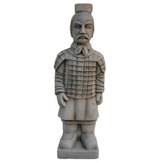 warrior japanese terracotta army statue army stone art big Medium Warrior 56cm