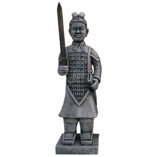 warrior japanese terracotta army sword statue army stone art Sword Warrior 84cm