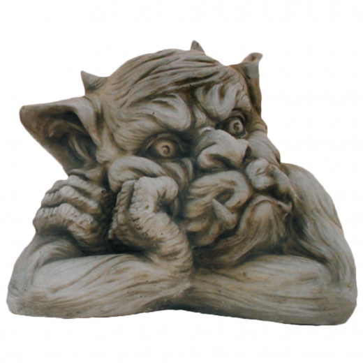 Small Gargoyle Facing Right 20cm head ornament strone concrete art