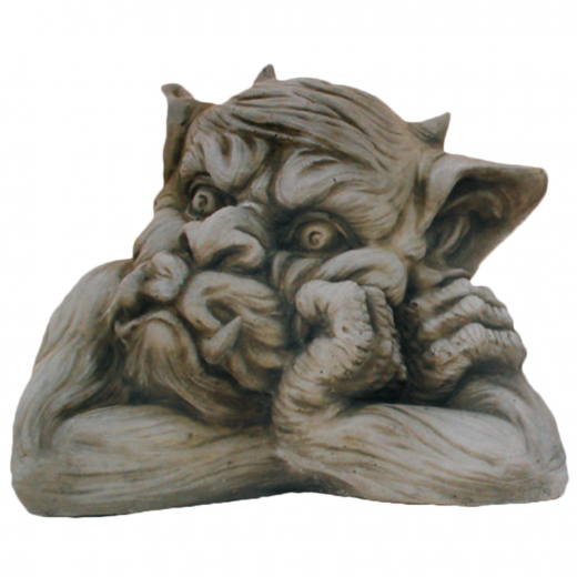 Small Gargoyle Facing Left 20cm head ornament strone concrete art