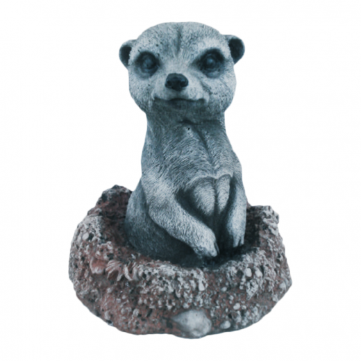 Small Meerkat Observing 14cm stone concrete art garden indoor outdoor ornament statue