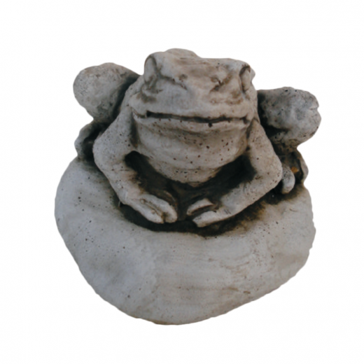 Little Sitting Frog 11cm toad stone art ornament garden pond pool outdoor outside