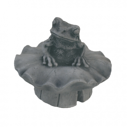 Curious Little Frog Sitting 15cm toad stone art ornament garden pond pool outdoor outside
