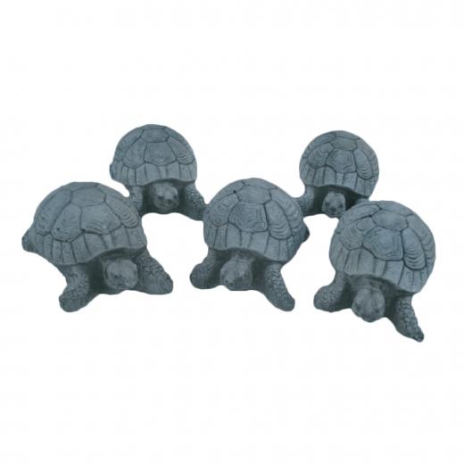 Small Cute Turtle 8cm animal statue ornament outdoor turtoise stone concrete