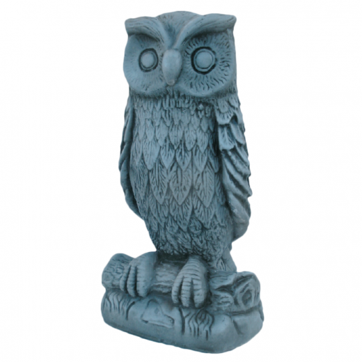 watchful owl 38cm stoine art concrete bird statue ornament