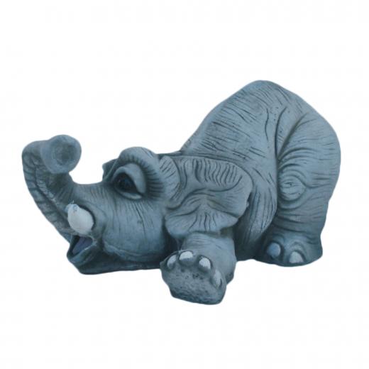 Laying Playful Elephant 18cm