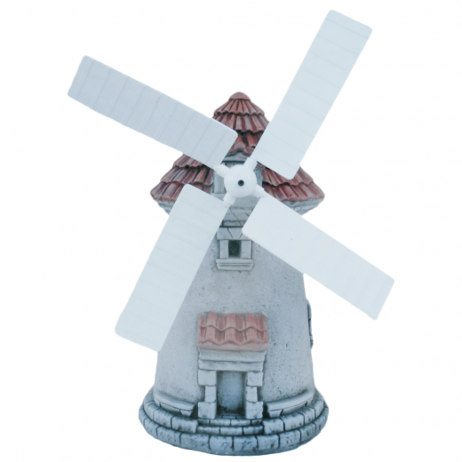 Stone Garden Windmill 47cm functional ornament outdoor blades plastic stone art statue