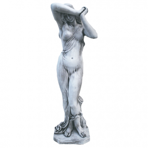 Beautiful Timid Lady 120cm beautiful stone garden statue ornament