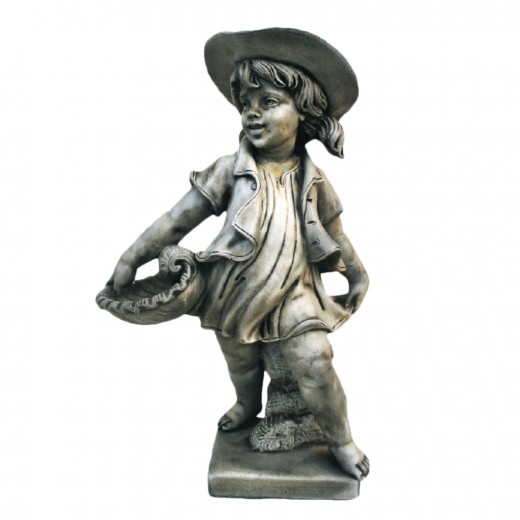 Girl With Shell 69cm young statue stone concrete outdoor ornament