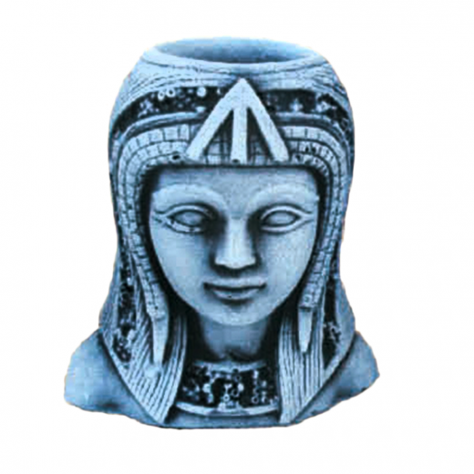 Egyptian Lady Head 10cm statue shel ornament stone concrete