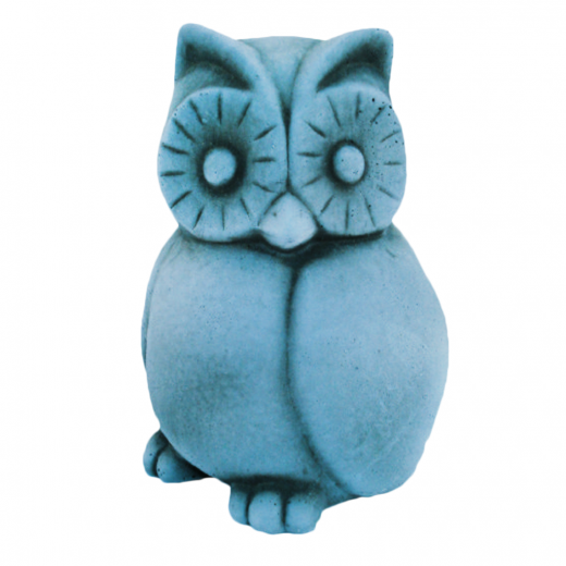 Small Watchfull Owl 15cm stoneart ornament stone