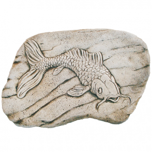 Fossilized Koi Fish 57cm fish stone art wall ornament garden stone outdoor art