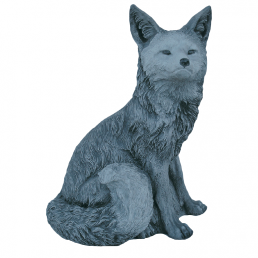 Curious Fox 48cm animal statue garden ornament stone concrete statue