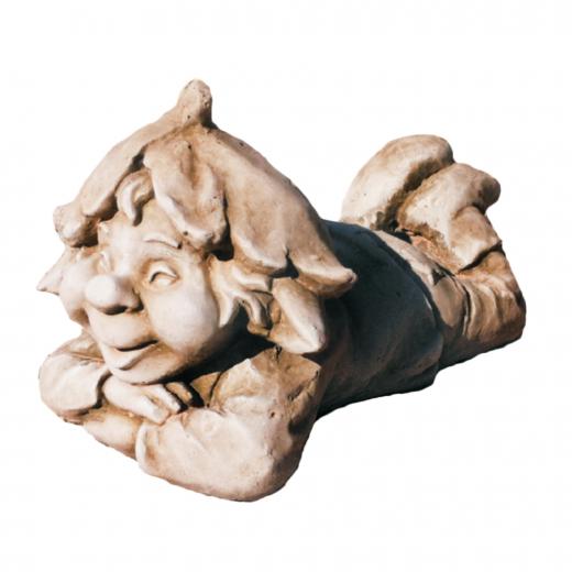 Happy Laying Gnome 15cm smiling gnome pixi garden statue ornament stone art