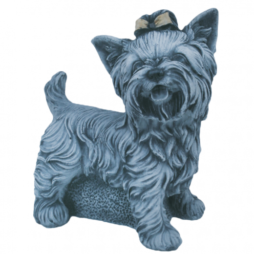 Yorkshire Terrier 25cm stone art ornament statue concrete