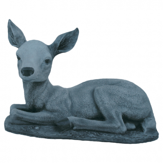 Bambi Sitting 26cm animal garden ornament stone deer