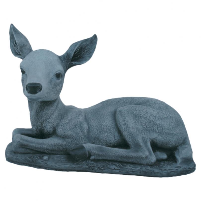 Bambi Sitting 26cm animal garden ornament stone deer