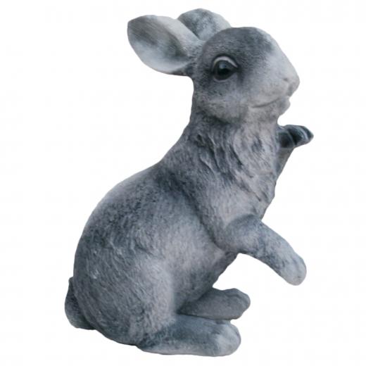 Playful Rabbit 37cm animal cute garden ornament bunny stone