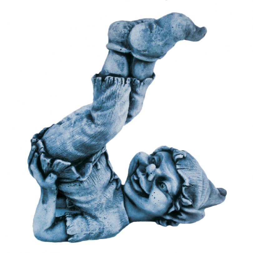 Stretching Pixie 24cm garden gnome statue