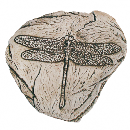 Fossilized Dragon Fly 37cm ornament terrace stone art