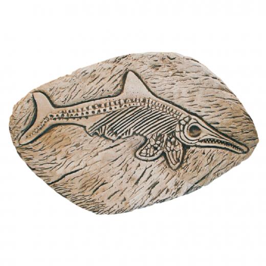 Fossil Fish 45cm wall ornament statue outdoor garden
