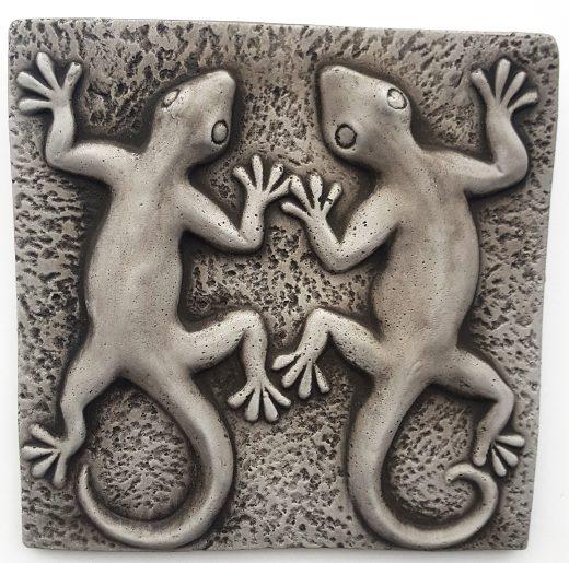 Gecko plaque 24 cm square